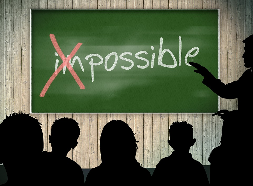 Impossible – read it as IM Possible